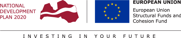 European Regional Development Fund within National Development Plan of Latvia 2020 logo